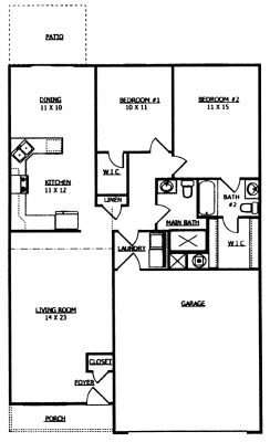 2 Bedroom Townhousewith 1st Floor Master furthermore 2822 Guthrie Road besides  furthermore 2822 Guthrie Road in addition 7097 St Ives Ct Jacksonville Fl 32244. on 1 car townhome plans